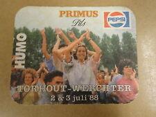 ZELDZAAM BIERVILTJE / BIERKAARTJE HUMO PRIMUS PEPSI TORHOUT-WERCHTER 1988