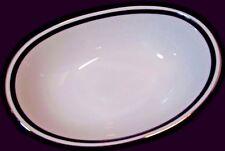 "Noritake 'Horizon' 10"" Vegetable Server White China w/ Greek Key Design - NEW"