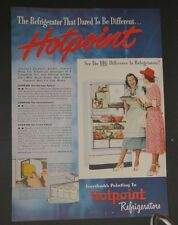 Original Print Ad 1947 HOTPOINT Refrigerators Dared Different Vintage