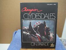 Budweiser Anheuser Busch Champion Clydesdales 1980 Booklet