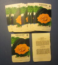 Wholesale Lot of 25 Old Vintage 1940's SQUASH Acorn Vegetable SEED PACKETS Empty