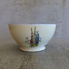 Vintage NEWHALL Hanley Staffs Bowl Hollyhocks Design Staffordshire England 500ml