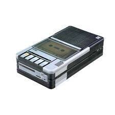 Cassette Recorder Tin - Metal Gift Box - Small Retro Vintage Home Storage Audio