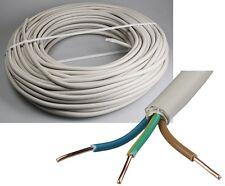"""Stromkabel Stromleitung """"NYM-J"""" 50m isoliert 3G1,5 Außen Ø8,2mm, Ring Kabel grau"""