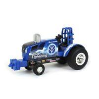"NEW! 1/64 Ertl New Holland ""Blue Lightning"" Die-Cast Pulling Tractor"