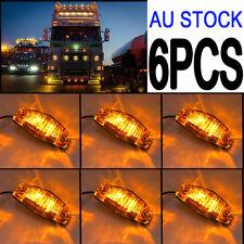 6PC LED Side Marker Amber Light Indicator 12/24v Truck Car Van Trailers Lamp AU