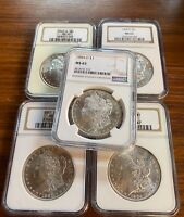BULK Lot (5 Coins) MS65 1879-1904 Morgan Silver Dollar NGC/PCGS Set Collection