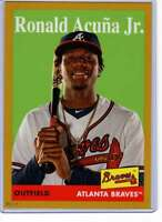 Ronald Acuna Jr. 2019 Topps Archives 5x7 Gold #100 /10 Braves