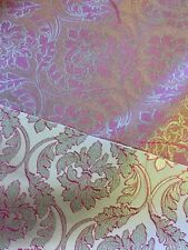 Brocade Fabric By The METRE Pink