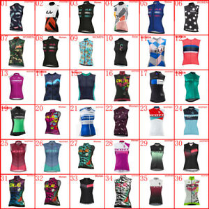 Team Womens Cycling Vests Cycling Jerseys Cycling Sleeveless Jersey Bicycle Tops