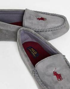 Polo Ralph Lauren Dezi iv Moccasin Men's Slippers in Grey