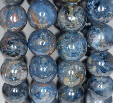 12MM BLUE PIETERSITE GEMSTONE GRADE AA ROUND LOOSE BEADS 8""