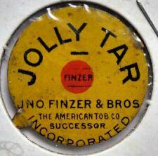 1880s Jolly Tar Frazier Antique Tobacco Tin Tag Tobacciana