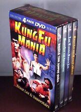 BRUCE LEE & Superstars Kung Fu Mania (New 4 DVD Boxed Set)  Sealed!
