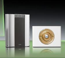 Libra+ Pro 200m Kabellose Türklingel Set Messing Druckstange/weiß Perspex,