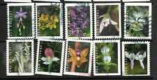 2020 Sc #5445-5454 Forever Orchids Booklet 10 stamps Canceled