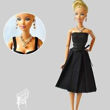 Barbie doll Fashion clothes and handmade jewelry set for barbie dolls