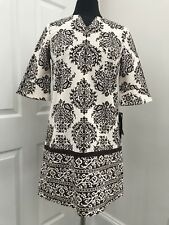 PATRICK ROBINSON for TARGET NWT Brown/White Print Boho Chic Tunic Dress Sz. M