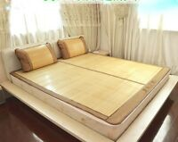Bamboo bed mat cool summer mat both size sheet rug floor mat  夏季双面折叠原色竹席凉席