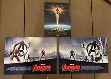 Avengers Endgame Set Of 3 Posters Captain Marvel Thor America Hulk Imax Iron Man