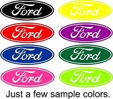 Ford Decal Script Oval Vinyl Decal Sticker Car Truck Window