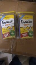 2 boxes TEMPTATIONS Classic Tasty Chicken Flavor Cat Treats, 16 Oz. Value Size!