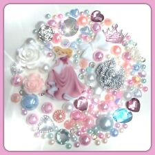 Disney Sleeping Beauty #2 Theme Cabochon Gem & pearl flatbacks decoden crafts
