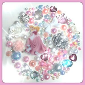 Disney Sleeping Beauty #2 Theme Cabochon Gem & pearl flatbacks decoden crafts