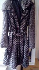 Cappotto in lana bouclè tweed, marrone melange, tg. M, OCCASIONE!!!