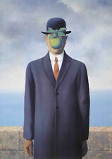 The Son of Man Rene Magritte Art Print Poster BOWLER HAT (Fils de l'Homme) 20x28