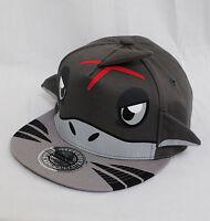 City Hunter Shark Flat Peak Urban Snapback Baseball Hat Cap