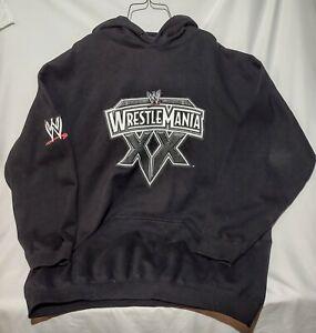 2004 WWE Wrestlemania XX Black Hoodie Size XXL