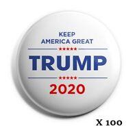 "Bestseller Wholesale Lot of 100 Trump 2020 Buttons /""Re-Elect Donald Trump/"""