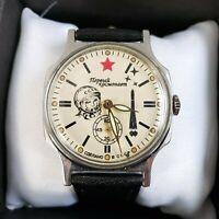 Wrist Watch Pobeda Gagarin Vintage Soviet USSR / Serviced