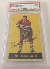 Dickie Moore Signed Autographed 1960 Parkhurst Card #38 PSA Certified
