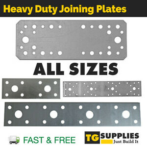 Flat Bracket Connecting Jointing Mending Plate Galvanised STRONG 2.5mm Steel