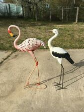 Sculpture en métal de 2 grand oiseaux