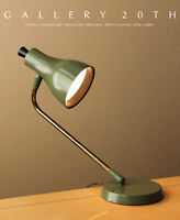 WOW! ORIG. MID CENTURY MODERN LIGHTOLIER DESK LAMP! ATOMIC DECOR VTG AVOCADO 50S