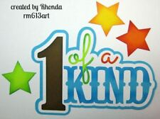 1 Of A Kind Boy title paper piecing Premade Scrapbook Pages albums by Rhonda