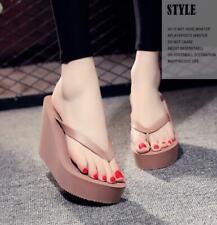 Hot Lady Wedge Platfrom Heel Ultra High Beach Sandals Flip Flops Slippers