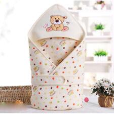 Newborn Baby Soft Cotton Swaddle Blanket Boy Girls Sleeping Bag Wrap Pram Travel