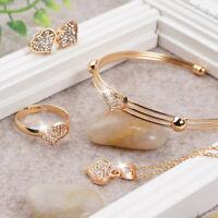 Schmuck Set Halskette mit Anhänger Ohrringe und Armband