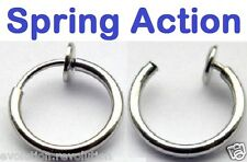 1 x Fake Nose Ring Hoop Earring: Spring Action/Retractable - Easy to put on!