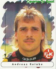 075 ANDREAS REINKE GERMANY 1.FC KAISERSLAUTERN STICKER FUSSBALL 1996 PANINI