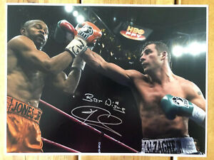 Joe Calzaghe Hand Signed 16x12 Boxing Photo. SEE HIM SIGNING. PROOF.