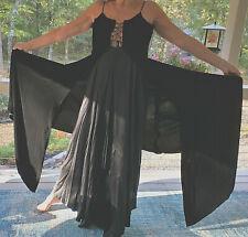 LAUREN Ralph Lauren Black VELVET Long Gown Size S SILK Dress Sleek VRY LONG TALL