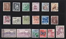 JAPAN 1952-1959 NATIONAL TREASURE PLANTS & ANIMALS SERIES COMP. SET OF 18 STAMPS