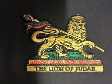 THE LION OF JUDAH BADGE 6.5cm x 8cm ROOTS  REGGAE CULTURE RASTAFARI