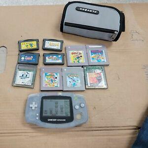 Gameboy Advance with 9 games including Super mario, Pokémon,etc Bundle. Working