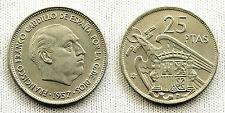 ESTADO ESPAÑOL 25 PESETAS 1957*69 MADRID UNC/S/C/FDC COLOR Y BRILLO ORIGINAL